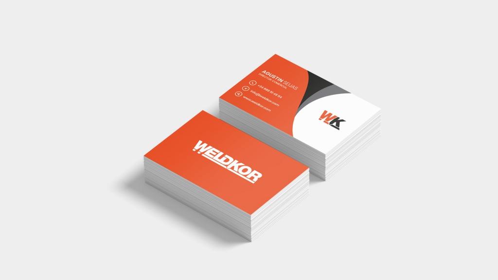 Tarjetas de visita Weldkor